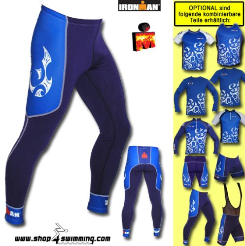 Herren Running Long Tight Ironman Extreme Laufhose Tattoo BU