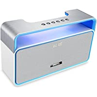 AMERTEER Cannon Wireless Bluetooth Stereo Speakers Poratable with Subwoofer and FM Radio - Blue