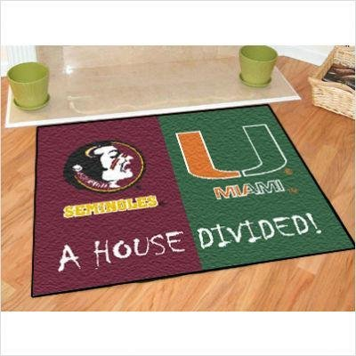 Fanmats House Divided: Florida State-Miami Rug