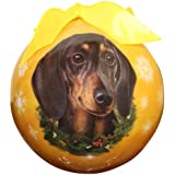 Dachshund Christmas Ornament Shatter Proof Ball Easy To Personalize A Perfect Gift For Dachshund Lovers