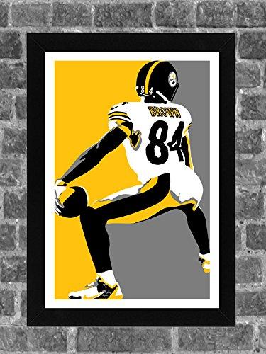 Pittsburgh Steelers Antonio Brown Twerk Touchdown Dance Portrait Sports Print Art 11x17