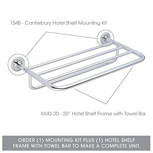 Ginger 154B Cantebury Shelf Mounting Kit, Polished Chrome by Ginger (Image #1)