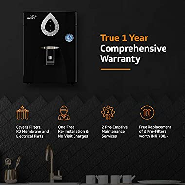 V-Guard Zenora RO+UV+MB 7 Litre Water Purifier With 8 Stage Purification (Black) 10