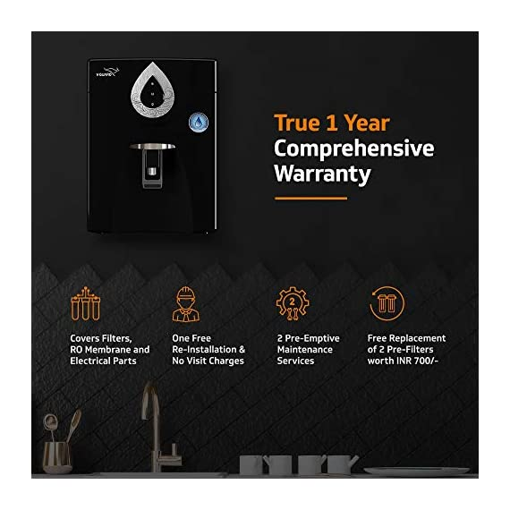 V-Guard Zenora RO+UV+MB 7 Litre Water Purifier With 8 Stage Purification (Black) 3