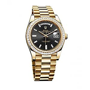 Rolex Day-Date II automatic-self-wind mens Watch 228398 BKDP (Certified Pre-owned)