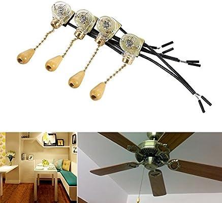 Interruptor de Cadena de Interruptor de Extracción de Encendido/Apagado para Ventilador de Techo: Amazon.es: Bricolaje y herramientas
