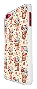 918 - Collage Candy Multi Candy Ice Cream Lolly Design For Apple ipod Touch 6 Fashion Trend CASE Back COVER Plastic&Thin Metal - White