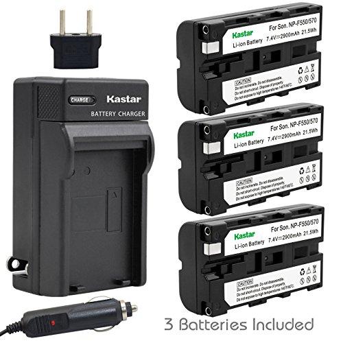 (Kastar Battery (3-Pack) + Charger for Sony NP-F570 NP-F550 NP-F530 NP-F330 & CCD-RV100 CCD-SC5 CCD-SC9 CCD-TR1 CCD-TR215 CCD-TR940 Camcorder, CN-126 CN-160 CN-216 CN-304 YN 300 VL600 LED Video Light)