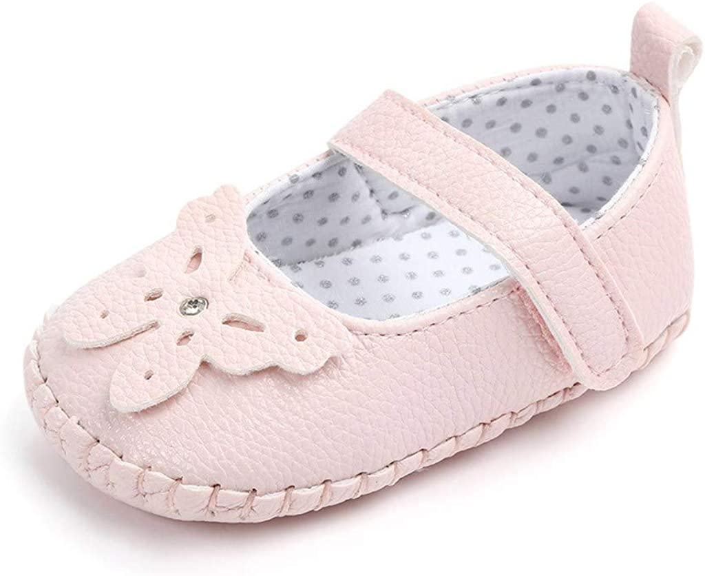 FIged Butterfly Newborn Baby Mary Jane Anti-Slip Single Casual Outdoor Shoes