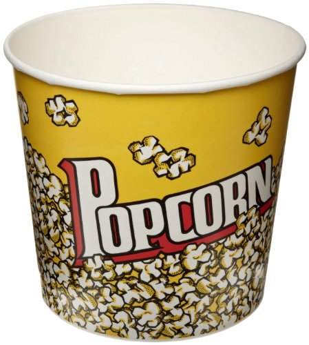 SOLO VP85-00061 Single-Sided Poly Paper Popcorn Tub, 85 oz. Capacity,