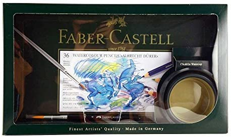 Faber-Castell Albrecht Durer Watercolor Set with Brush & Watercup 36 Colors (FC217505) [並行輸入品]