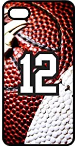 Football Sports Fan Player Number 12 Black Rubber Decorative iPhone 5/5s Case