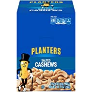 PLANTERS Salted Cashews, 1.5 oz. Bags (18 Pack) | Individually Packed Snacks On the Go | Snacks for Adults | Quick Snacks | Kosher
