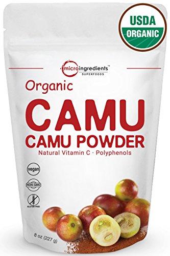 Peruvian Pure Organic Camu Camu Powder, (Natural Vitamin C Powder), 8 Ounce, Powerful Energy and Immune System Booster. Non-Irradiated, Non-Contaminated, Non-GMO and Vegan (Camu Powder)