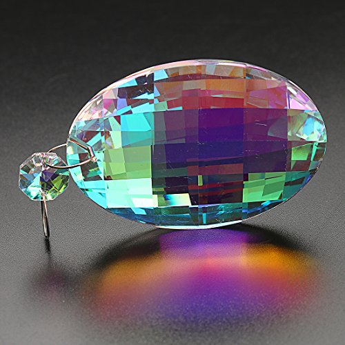 H&D 18pcs Colorful Lamp Prisms Parts with Octagon Bead Chandelier Glass Crystals Hanging Drops Pendants by H&D (Image #4)