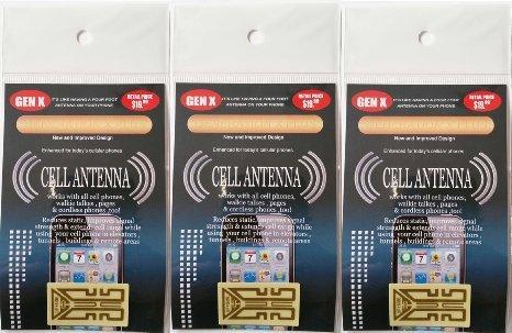 Generation X Plus Smartphone Antenna 3 Pack Tablet Mobile Nook Kindle Samsung Nokia Windows HTC LG Ericsson