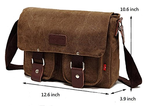 49a5b2fe64df Messenger Bag Military Shoulder Satchel -Your Style Matters Work School  Companion-Men Women Unisex Crossbody Bookbag-Casual Canvas-Mens Travel  Leather ...