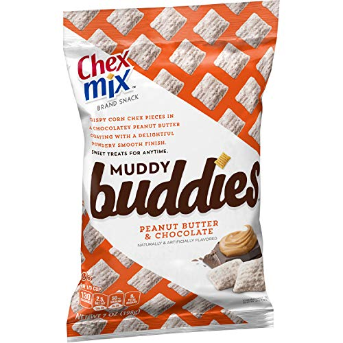 Chex Mix Muddy Buddies Peanut Butter Chocolate 7 oz Bag (pack of 10)