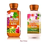 Bath & Body Works Signature Collection – Vineyard Champagne Kiss – Gift Set – Shower Gel & Body Lotion For Sale