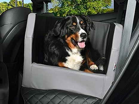 Coche cama para perros, asiento trasero - Manta, Auto ya, también en visco elástica, negro de plata: Amazon.es: Productos para mascotas