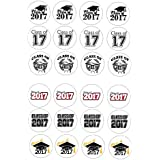 24 Class of 2016 End of term school leavers Cake Toppers 4cm On wafer rice paper by Print4you