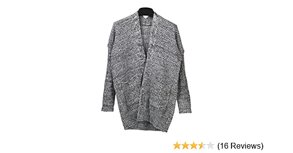 a0d1c93b48b10 SAYM Women s No Loose Cardigan Sweater Coat Bold Lines Knit Grey at Amazon  Women s Clothing store