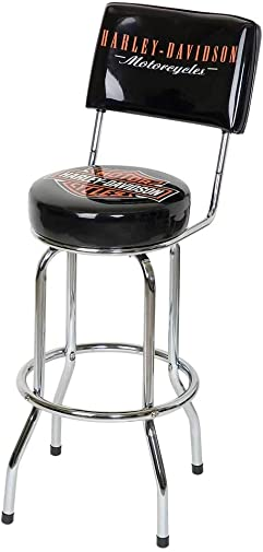 HARLEY-DAVIDSON Bar Shield Bar Stool with Back Rest HDL-12204