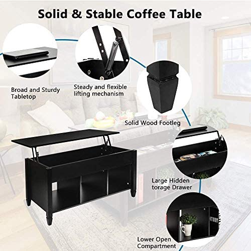 home, kitchen, furniture, living room furniture, tables,  coffee tables 4 image SSLine Lift Top Coffee Table with Hidden Compartment promotion