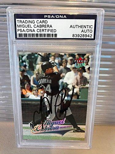 Miguel Cabrera Signed Autographed 2004 Fleer Baseball Car...