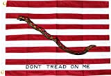 First Navy Jack (Dont Tread on Me) – 2′ x 3′ Cotton Flag For Sale