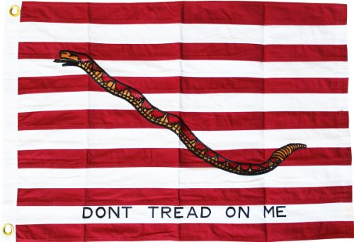 (First Navy Jack (Dont Tread on Me) - 2' x 3' Cotton Flag)