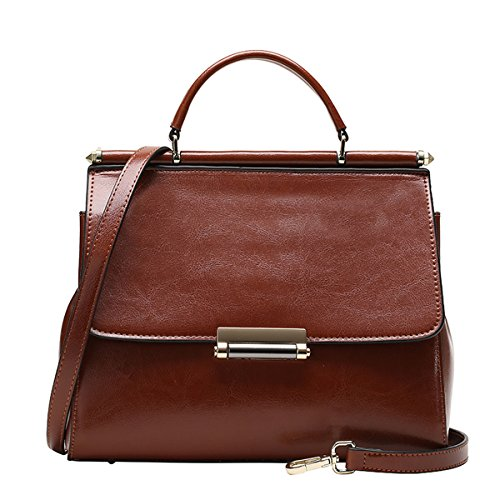 Leather Fashion 27X11X21CM Brown DISSA Casual Handbag Women Bag Shoulder LxWxH VQ0811 tqwx1fH