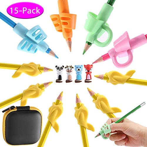 Pencil Grips, Pencil Grips for Kids Handwriting Preschool Writing Aid Grip Training Finger Grip for Pencil Kids Toddler Beginners Kindergarten Writing Posture Correction Tools ()