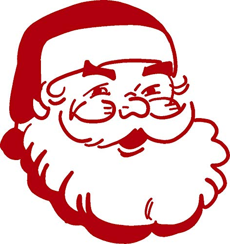 hBARSCI Santa Claus Vinyl Decal - 5 Inches - for Cars, Trucks, Windows, Laptops, Tablets, Outdoor-Grade 2.5mil Thick Vinyl - Red ()