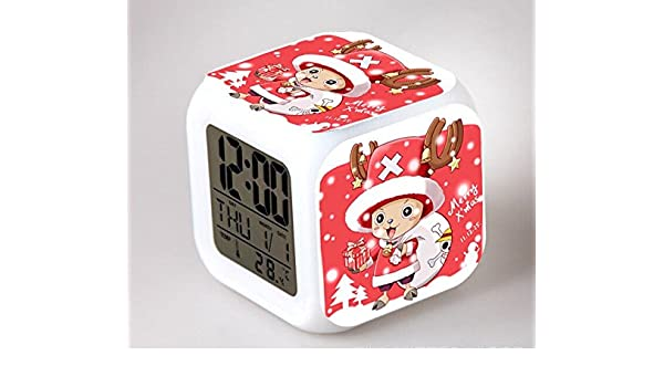 Amazon.com : One Piece Digital Action Figures Luffy Chopper Clock Reloj Despertador Colorful Model Doll Anime Led Alarm Clocks Light Up Toys : Baby