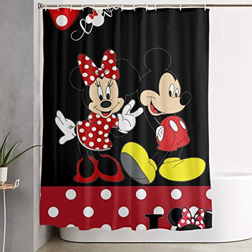 LIUYAN Shower Curtain with Hook - Mickey Mouse Waterproof Polyester Fabric Bathroom Decor 60 X 72 - Curtain Mickey Shower