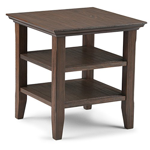 Simpli Home Acadian Solid Wood End Side Table, Farmhouse Brown by Simpli Home