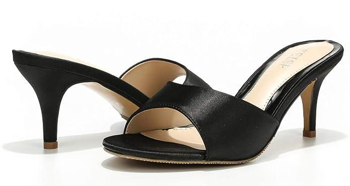 Amazon.com: WSKEISP - Sandalias de tacón bajo para mujer: Shoes