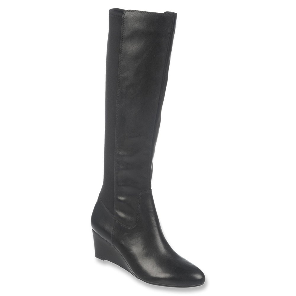 5e2b18b27a57 Naturalizer Quinlee Leather Wide Calf Wedge Boots  Amazon.co.uk  Shoes    Bags