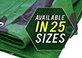 Trademark Supplies Heavy Duty Thick Material Waterproof Tarp Cover, 40X60-Feet, Green/Black