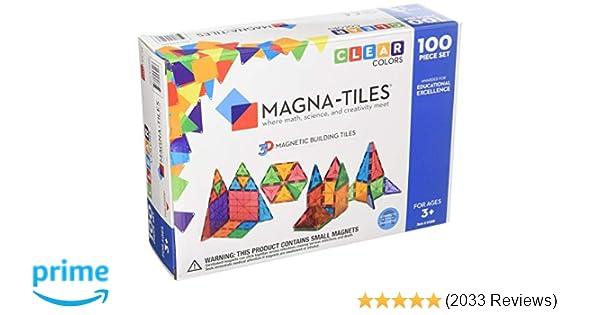 67afdc561e7 Amazon.com  Magna-Tiles 1517888 Clear Colors 100 Piece Set  Toys   Games