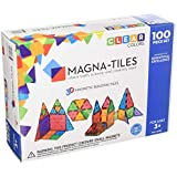 Magna-Tiles 100-Piece Clear Colors Set – The Original, Award-Winning Magnetic Building Tiles – Creativity and Educational – STEM Approved