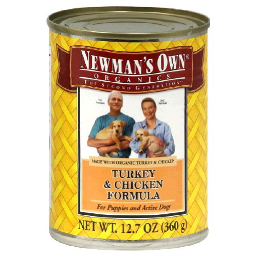 Newmans Own Organic Can Dog Food 12.7oz Turk/Chkn