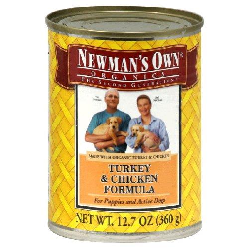 Newmans Own Organic Can Dog Food 12.7oz Turk/Chkn