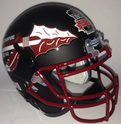 Florida State Seminoles Schutt Authentic Mini Helmet BLACK LIMITED EDITION 2013 BCS National Champions