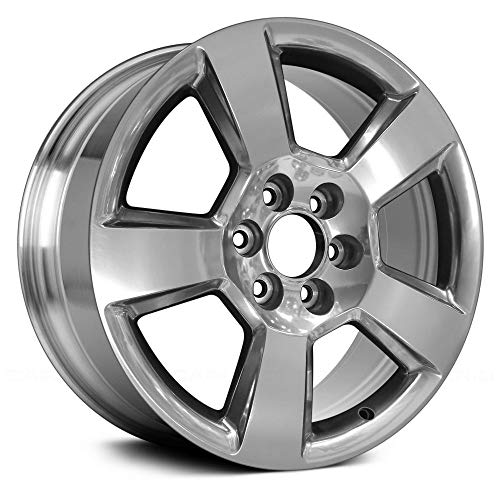 Replacement 5 Spokes Full Polished Factory Alloy Wheel Fits Chevy Silverado 1500 ()