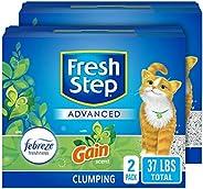 Fresh Step Advanced Cat Litter, Clumping Cat Litter, 99.9% Dust-Free, Gain Scent – 37 Pounds