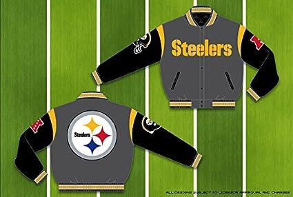 6d98e32b6 Amazon.com   NFL Men s Pittsburgh Steelers Wool Reversible Varsity ...