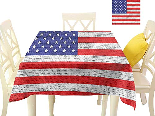 WilliamsDecor Outdoor Tablecloth USA,American Freedom Theme BBQ Tablecloth W 54