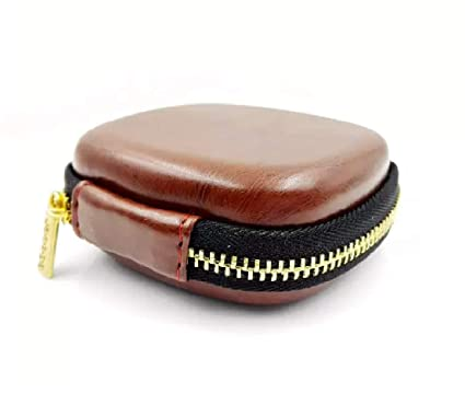 DIGITAL Funda Premium Brown Leather Multi-Purpose Small Case for Earphones, Pen Drives, SD Memory Cards, Keys, Coins, Jewelry & Accessories, USD ...